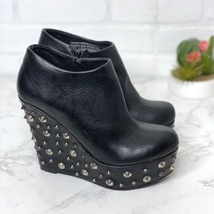 Deena & Ozzy Studded Platform Wedge Booties